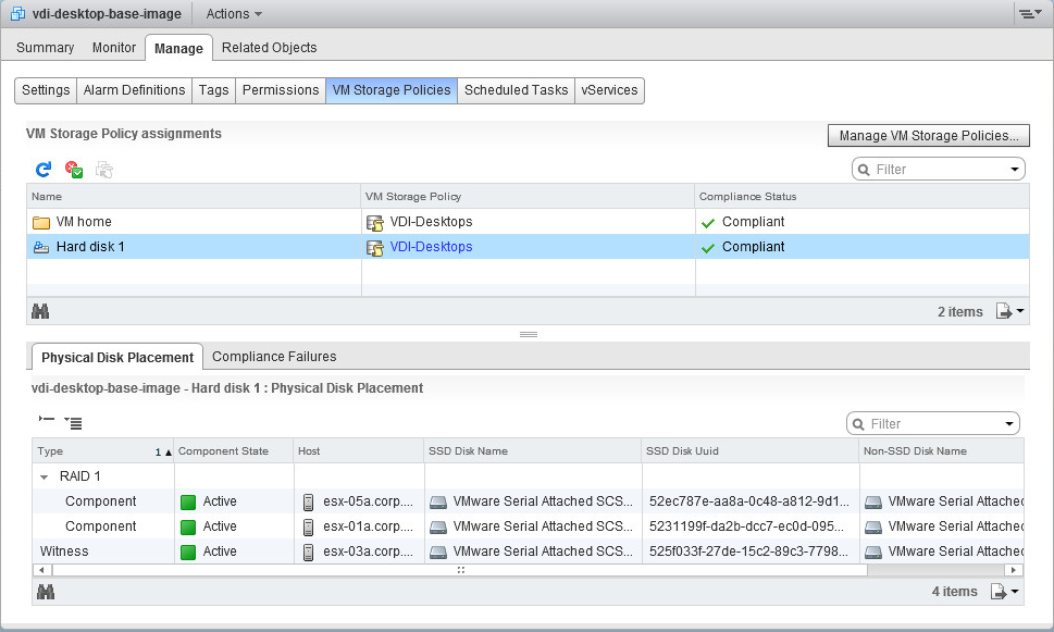 VSAN Physical Disk Placement