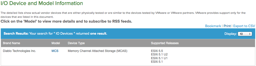 VMware certify new memory channel attached storage on