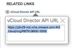 5. vCloud Director API URL