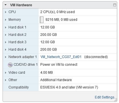 Four Disks per VM