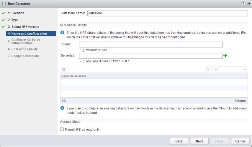 Setup NFSv4.1 datastore