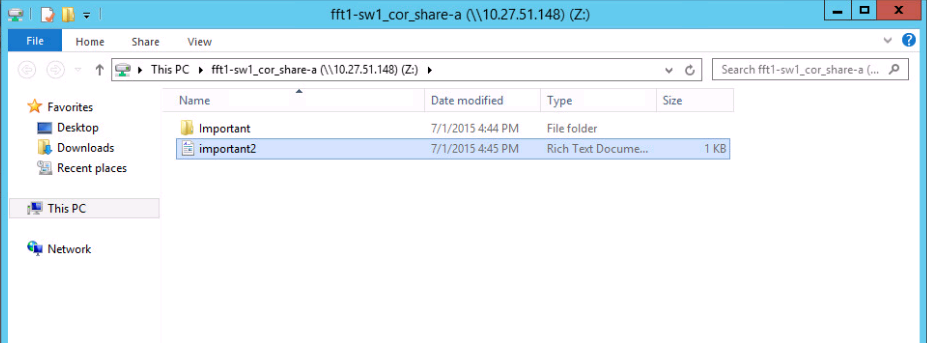 7. put files on share