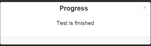 6. Test is finished