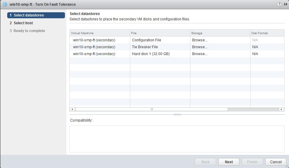 select datastore