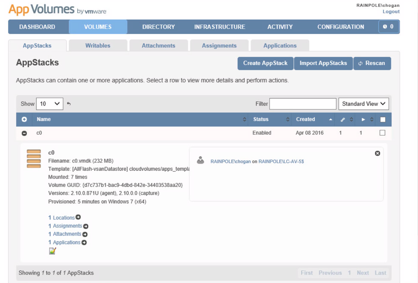 A primer on App Volumes and AppStacks on VSAN
