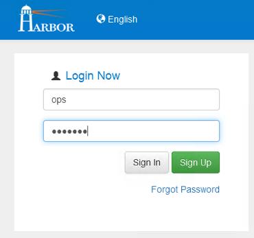 harbor - new user login